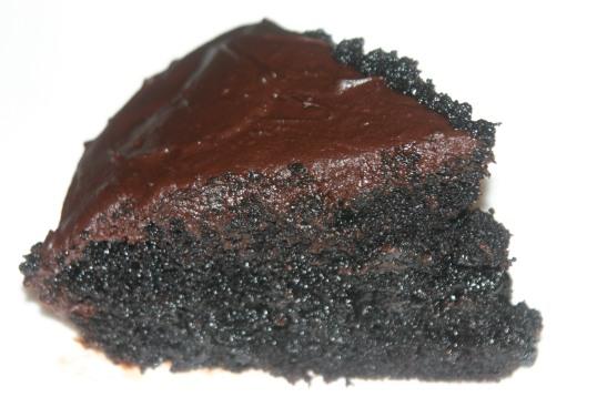 Vegan Chocolate Bourbon Caramel Cake