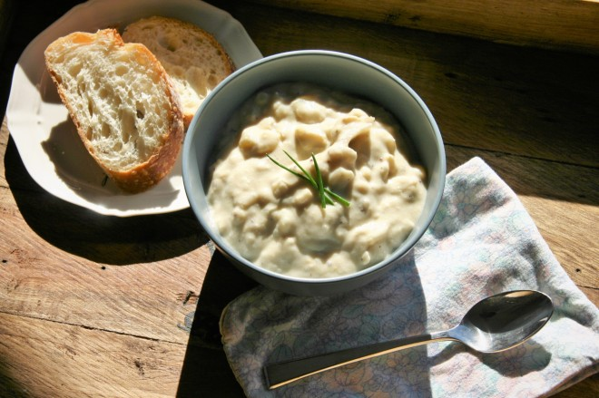 Vegan Corn and Potato Chowder
