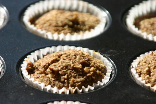 vegan gluten-free almond pulp banana muffins