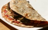 Vegan Pest Patty Pizza Quesadilla