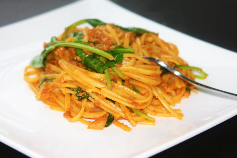 Easy Pasta with Soyrizo and Garlic