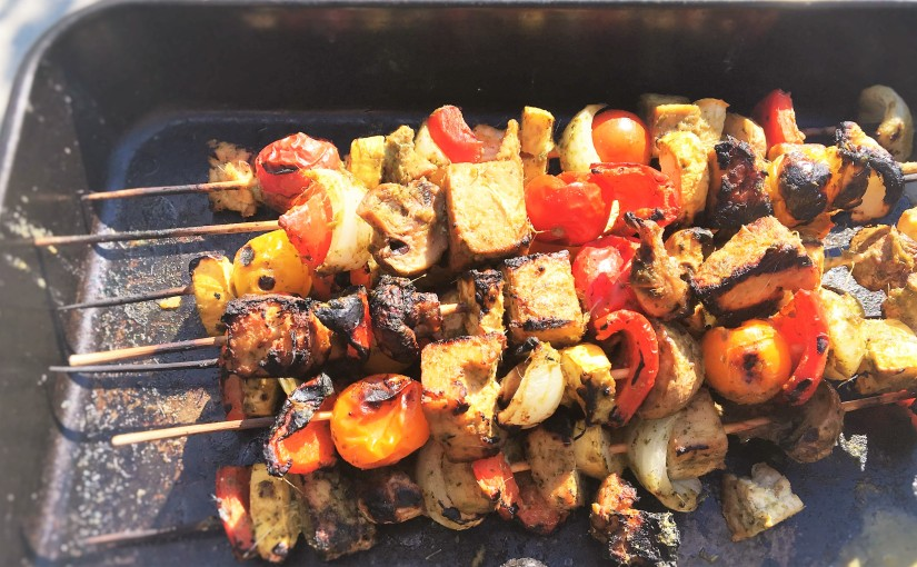 Pacific Rim Vegetable Kabobs (vegan optional)