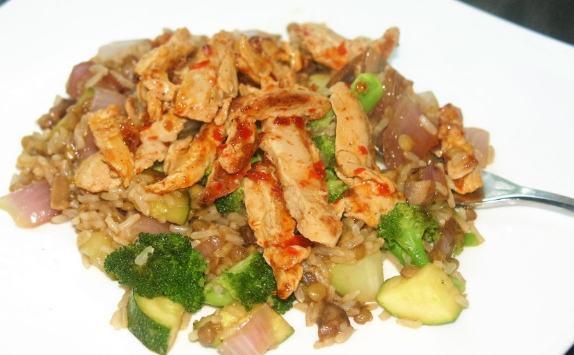 "Mustgo Fried Rice with Sweet Chili ""Chicken"""