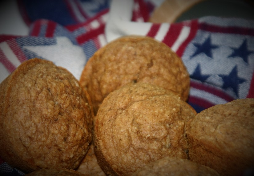 Refined Sugar Free Cinnamon Muffins + Vegan 4th of July Ideas