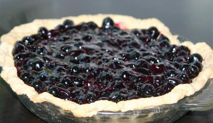 Fresh Vegan Blueberry Pie