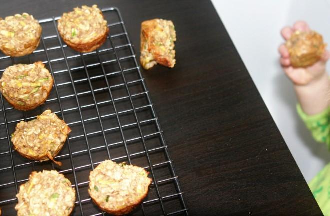 Banana Zucchini Baked Oatmeal Muffins