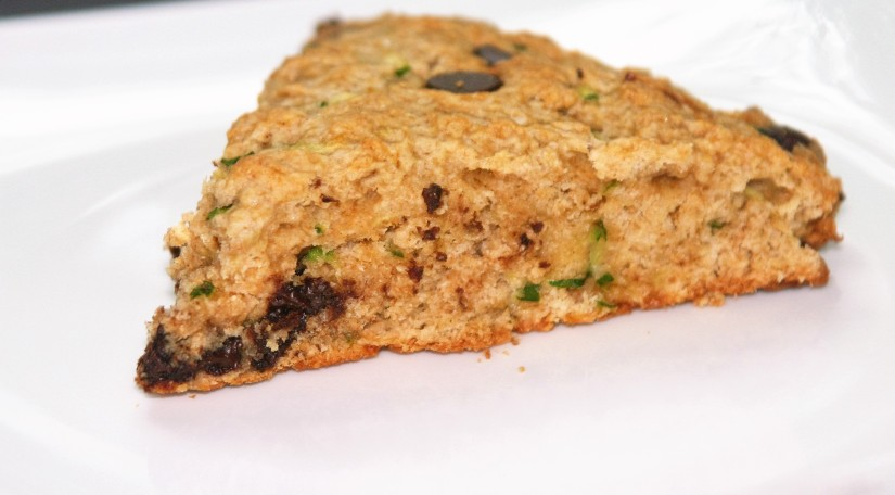 Vegan and almost healthy Chocolate Chip Zucchini Scones