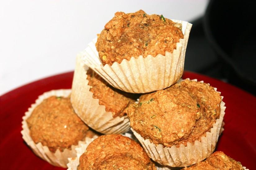 Pumpkin Zucchini/Carrot Muffins-Vegan