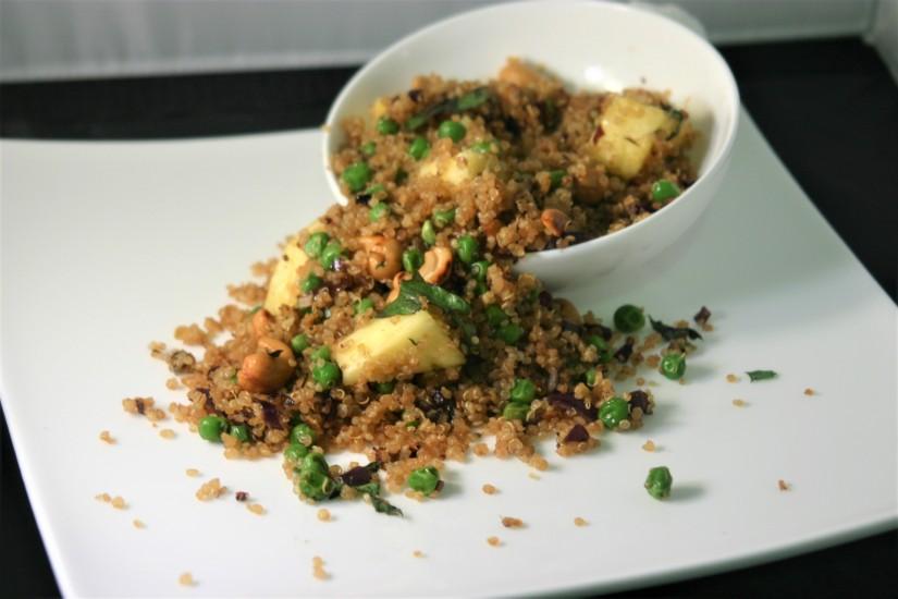 Vegan Pineapple-Cashew-Quinoa Stir-Fry
