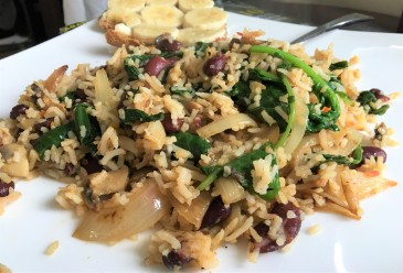 Using Leftovers to Make Rice Beans and Greens
