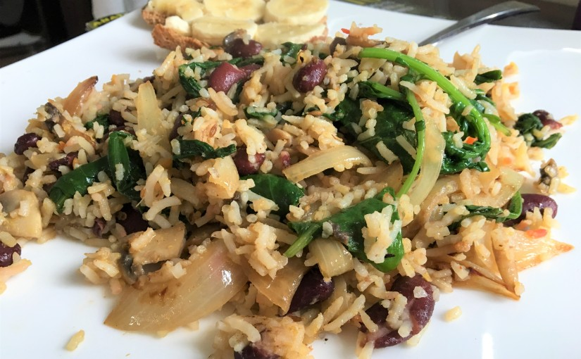 What To Do With Leftover Rice and Beans – Rice, Beans, and Greens