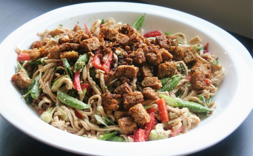 Happy Earth Day! Peanut Noodle Salad for Spring