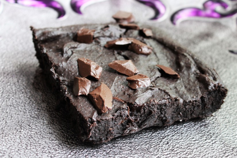 Vegan Gluten Free Chocolate Brownies Made With Black Beans