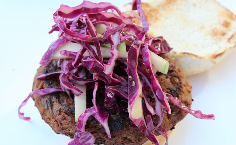 Red Cabbage and Green Apple Slaw With Honey Mustard Vinaigrette