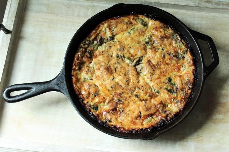 Vegetarian Crustless Quiche