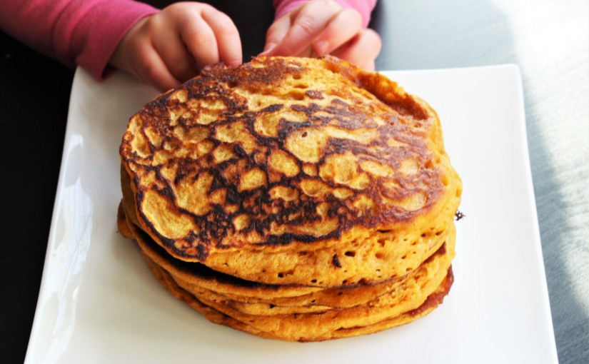 Sweet Potato Pancakes- toddler friendly