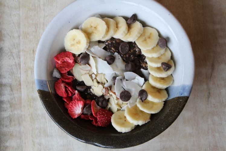 Chocolate Overnight Oats with Chia Seeds