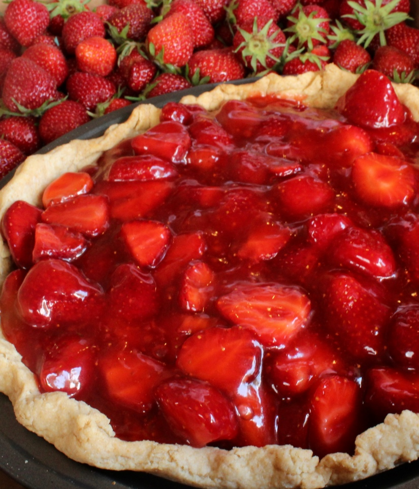 Fresh Strawberry Pie for the 4th of July